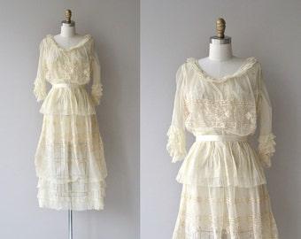 Éphémère dress | antique Edwardian wedding dress | cream lace 1910s 1920s dress