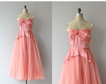 25% OFF.... Billet-doux dress | vintage 1940s formal dress • 1950s tulle party dress