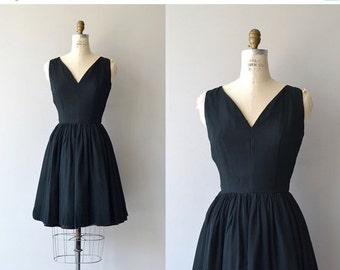 25% OFF.... Little Miss Perfect dress | vintage 1950s dress | black chiffon 50s dress