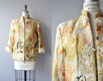Shōuchéng jacket | vintage chinoiserie jacket | chinese brocade jacket