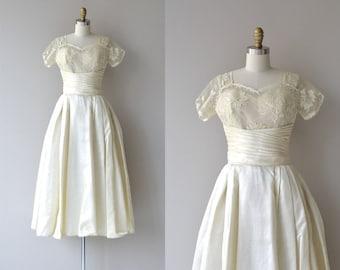 Fide et Amore wedding gown | vintage 50s wedding dress | silk 1950s wedding dress