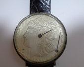 Morgan 1921 Silver Dollar Watch Face Vintage