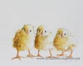 kitchen decor kitchen wall art chicken Painting of baby chick art PRINT Painting chicken art print chicken 8x10 grandma gift for mom NEW
