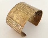 Brass cuff bracelet - brass bracelet- textured brass cuff- tribal boho style