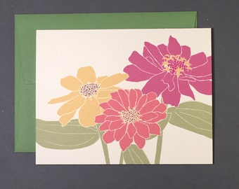 Zinnia Single Card