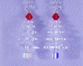 Christmas Tree Earrings - Just Crystal Large Swarovski