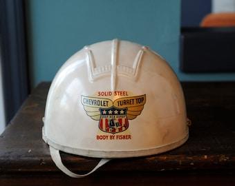 Vintage Official Soap Box Derby Helmet Chevrolet Turret Top