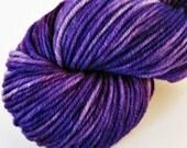 OOAK Purple - Semi-Solid Tonal - Hand Dyed SW Merino Heavier Weight Yarn - Robust (Worsted)