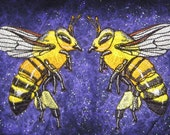 Epic Honey Bee Worker Pair Apis mellifera  Iron on Patch
