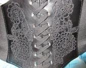Black Waist Cincher S-M-L-XL plus size under the bust  Renaissance Steampunk Pirate Costume Belt Embellished