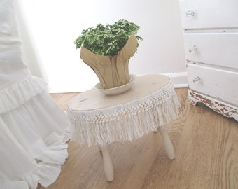 Vintage Footstool * Shabby French Cottage * Foot Stool