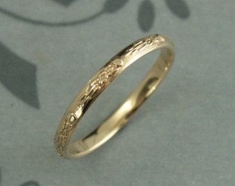 Womens Wedding Band Vintage Style Antique The