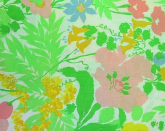 Vintage Pillowcases Floral Pink Green Yellow Blue Lace Trimmed