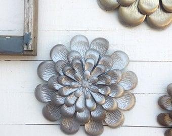 Metal Wall Flowers, Floral Metal Wall Art,Metal Wall Decor, Flower Wall Decor