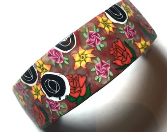 """New polymer clay hair clip 60 mm (2.36"""") barrette ponytail holder by myfiori"""