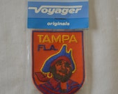 Vintage TAMPA FLORIDA embroidered fabric patch Voyager Original NEW in package