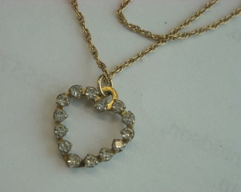 krementz heart necklace  ( C 12 )