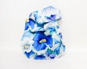 Blue Delft Petunia Knot Bag