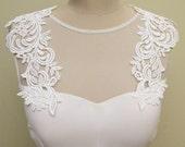 Detachable Wedding Dress Straps Bridal Ivory Applique Extra Large Lace Applique Bridal  Strap Sash Belt  Sashes Wedding Gown Dress Appliques