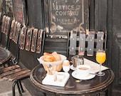 Paris Photography, Parisian morning breakfast, Cafe St Regis, Ile St Louis, Mornings in Paris, French, Kitchen Wall Art