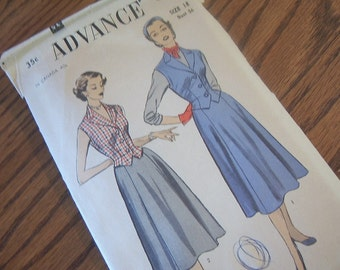 1950's Advance Party Dress Pattern 6177