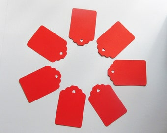 Red Tags for Labeling, Scrapbooking, Gifts, Thank You, Party, Craft Show or Price Tags (Set of 30)