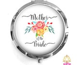 Mother of the Bride Compact Purse Mirror, Mother of the Bride Gift, Personalized Mirror, Purse Mirror Style 672