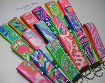 Get (1) FREE/Purchase (3) Receive 4TH FREE/Lilly Pulitzer Trunk in Love/Key Fob Wristlet/Stocking Stuffer/Preppy/Teacher Gift