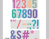 My First Alphabet: Numbers & Punctuations #213 Alphabet Paper Pieced Quilt Pattern PDF