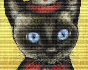Cat Cross Stitch Kit By Tanya Bond Nurse - Counted CrossStitch