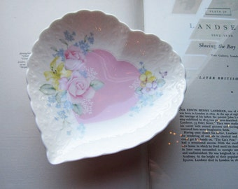 Vintage Mikasa Japan Heart * Porcelain Dish * Vintage Trinket Dish, Hearts and Flowers * Pastels *  Gifts and Idea's * Love