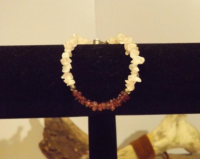 Rose Quartz and Garnet Healing Bracelet, Healing Crystal and Gemstone Jewelry, Healing Jewelry, Healing Crystal, Native American inspired