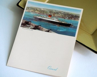 Cunard Lines Gala Dinner Menu from the R.M.S. Carinthia - 1957 Vintage Collectible - With Cruise Ship Painting
