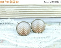 ON SALE Brown Stud Earrings Chevron Studs Brown Ombre Studs Woodland Earrings Ombre Studs Chevron Earrings