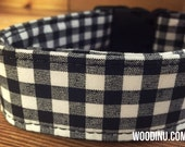 Black & White Plaid Dog Collar - Available in Five Sizes - Black and White Gingham Fabric Dog Collar - Dog Collar -  Fashion Dog Collar