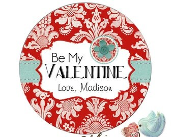 Valentines Day Stickers, Personalized Valentine's Day labels, Be My Valentine