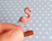 Phillip The Flirty Flamingo Miniature Ornament