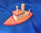 wooden toy tugboat