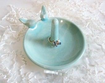 Ring holder Bridal shower gift,  love  bird ring dish, wedding gift, In Stock