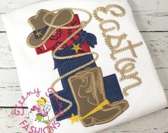 Cowboy 1st Birthday Shirt ~ ROPE Western Birthday Shirt ~ Cowboy Shirt ~ Sheriff Birthday Shirt ~ Roper Shirt ~ Cowboy Party ~ Boy Cowboy