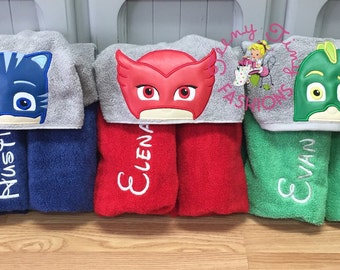 PJ Masks Birthday ~ Owlette Towel ~ Gecko Towel ~ Catboy Towel ~ Swim Lesson Towel ~ Beach Towel ~ Pool Towel