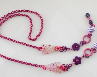 Eyeglass Chain - Lanyard - Purple - Pink