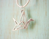 Origami Crane Pendant,Hope Healing,Geometric Crane Pendant