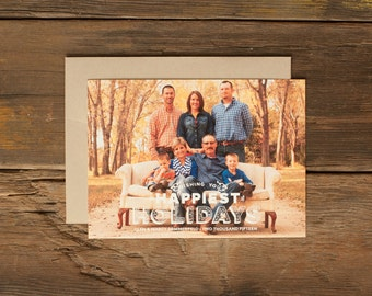 Custom Holiday Photo Cards - Personalized Christmas Card - Happiest Holidays
