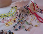 TEN  (10 )CZECH Glass Beads~ Colorful NECKLACES~
