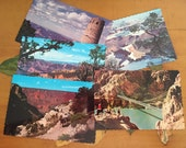 Grand Canyon Postcards Vintage Souvenir Photos Travel USA set of 5