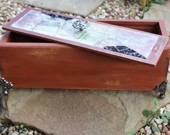 Memorial/ upcycled storage box