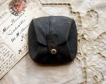 The Dirty Half Dozen - Miniature Library, Bibliotheque - Set of 6, Vintage Leather Pouch, OOAK