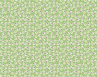 SPRING SALE - 3 3/8 Yards - Calico Days - C6037 - Strawberry in Green - Lori Holt - Riley Blake Designs