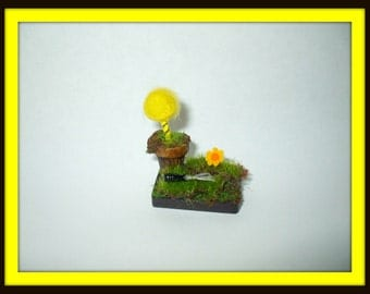 dollhouse miniature fairy witch Fantasy re-potting truffula tree ooak Fae Fairies pink